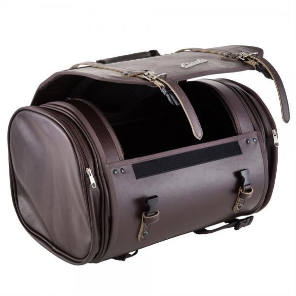 Laukku SIP Classic, iso, ruskea keinonahka