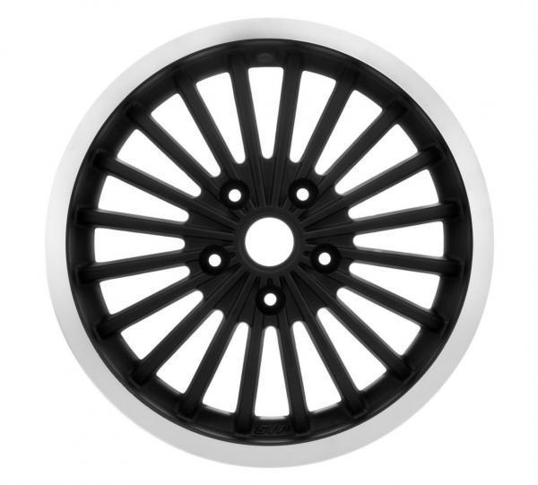 Vanne etu/taka SIP, Vespa GTS/GTV/GT, musta kiilotetulla reunalla