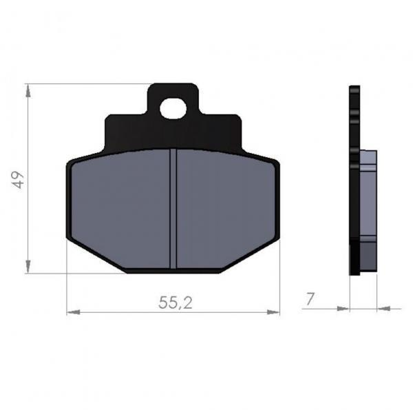 Jarrupalat, BGM 55.5x49mm, Piaggio Hexacon