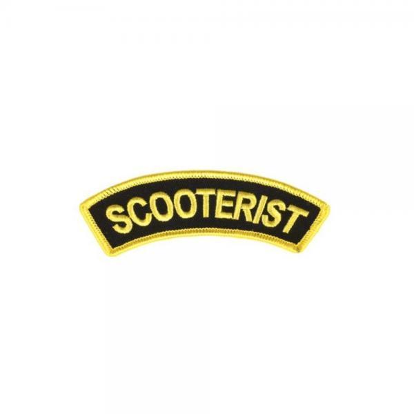 Scooterist kangasmerkki, musta/keltainen