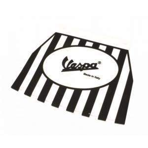 Roiskeläppä Vespa logolla, musta/valkoinen