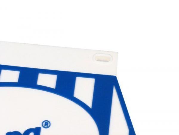 Roiskeläppä Vespa logolla, sini/valkoinen