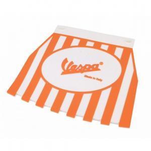 Roiskeläppä Vespa logolla, oranssi/valkoinen