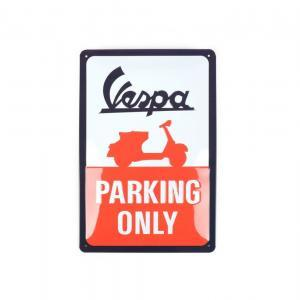 """Vespa Parking Only"" kyltti, koko 20x30cm"