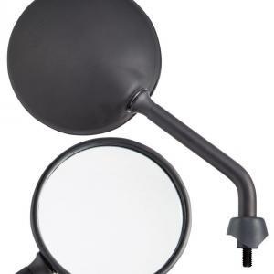 Peili pyöreä, SIP Shorty, vasen/oikea, matta musta