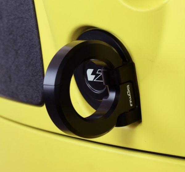 Kassikoukku musta/alumiini, BGM Pro, Vespa GT, GTS, GTV ja S