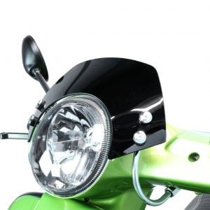 Tuulilasi, Moto Nostra, kromattu/musta, Vespa GT, GTL ja GTS