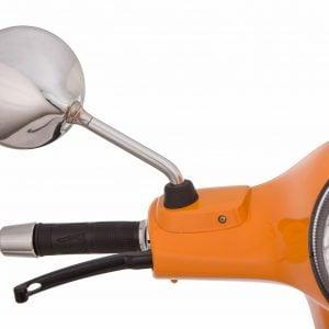 """Peili SIP """"Shorty"""", oikea/vasen, pyöreä, Ø 110 mm, kromattu, Vespa LX, LXV, S, GTS ja GTV"""