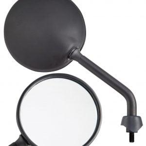 """Peili SIP """"Shorty"""", oikea/vasen, pyöreä, Ø 110 mm, mattamusta"""