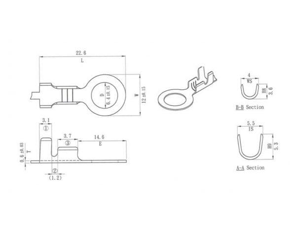 Johtoliitin 6,5mm, 10 kpl