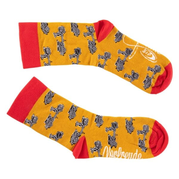 Vespa sukat, SIP oranssi/punainen, koko 36-40
