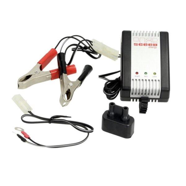 Akkulaturi Sceed 42 Energy AL800, 2-, 6- ja 12-voltin akuille