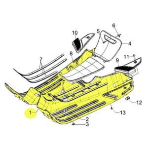 Astinlaudan muovi Piaggio, Vespa LX, LXV ja Vespa S