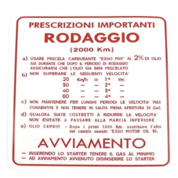 """Tarra """"Roddagio"""" 4v, 2%, Vespa Italian mallit"""