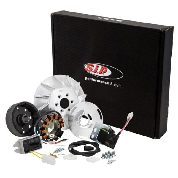 Kärjetön sytytys SIP Performance Sport 12V DC, VESPA 125 VNA, VNB, GT, GTR 1°, SUPER, TS 1°, VBA, VBB, T4, GL, SPRINT JA SPRINT VELOCE