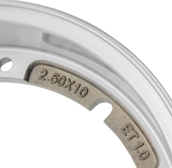 "Alumiinivanne SIP 2.0 2.50-10"", Vespa PV, ET3, PK, S, XL, XL2, 125 GT-TS, 150 GL, GS VS5T, Sprint, V, T4, Rally, PX, PE, Lusso, T5, LML Star, DLX, Deluxe 2T, 4T (Kopio)"